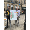 Brexit-O-meter in Stafford with Alec and Richard, July 2018