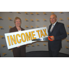 Christine Tinker with Vince Cable in Bournemouth