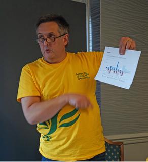 EGM - GLD Treasure, Simon Oliver speaking (Kevin Daws)
